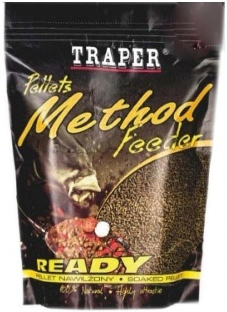 Traper pelety method feeder ready 2 mm - halibut červený