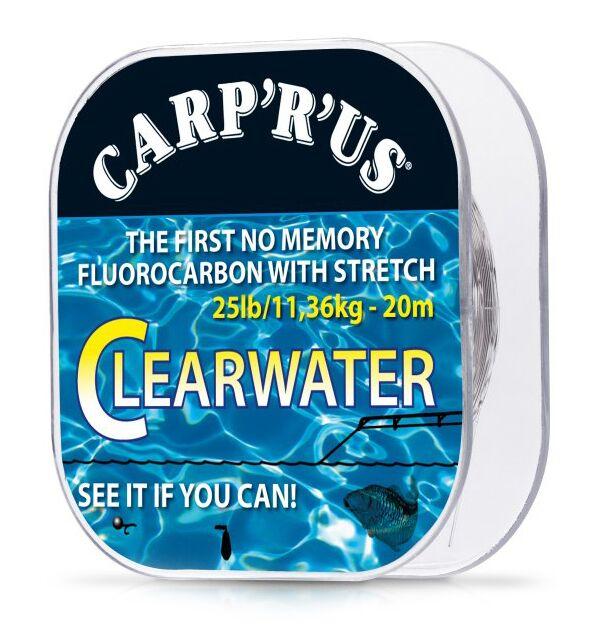 Carp ´r´ us clearwater - náväzcový fluorocarbon 20 m crystal-nosnosť 25 lb