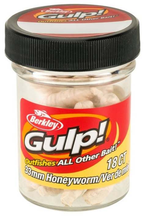 Berkley umelé nástrahy gulp honey worm-milky white 3,3 cm