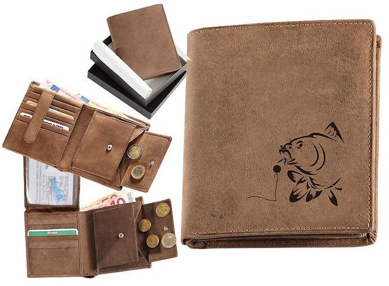 Kožená rybárská peňaženka 17 - kapr a boilies