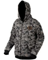 Savage Gear Mikina Black Savage Zip Hoodie - Veľkosť XL