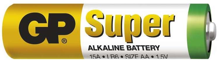 Gp batteries alkalická bateria gp super lr6 (aa) 1 ks