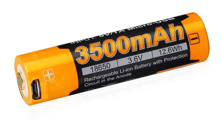 Fenix dobíjacia usb batéria 18650 3500mah