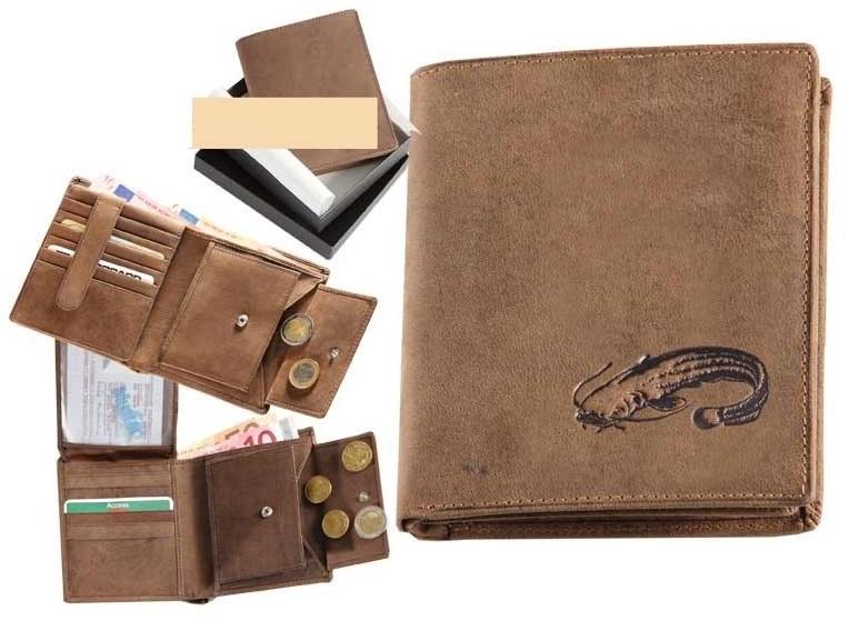 Kožená rybárská peňaženka 17 - sumec