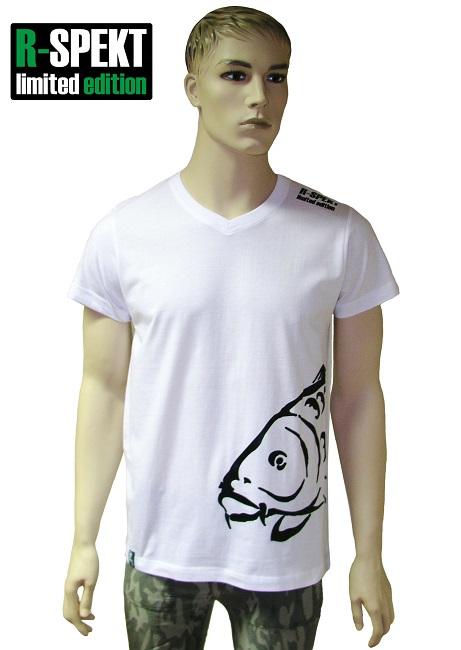 R-spekt tričko carper biele-veľkosť m