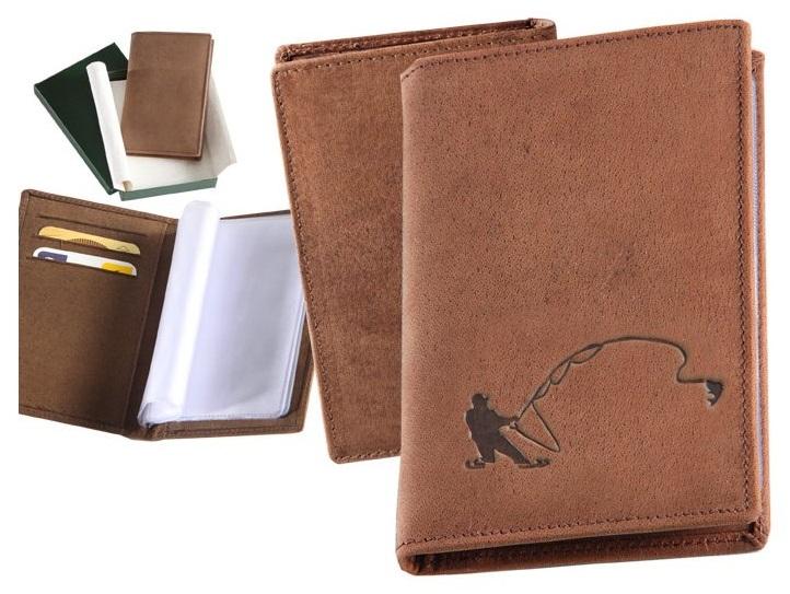 Kožené puzdro na osobné doklady - rybár