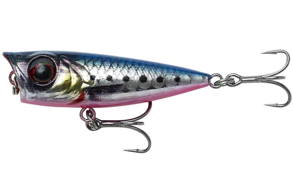 Savage gear wobler 3d minnow popper pink belly sardine php - 4,3 cm 4 g