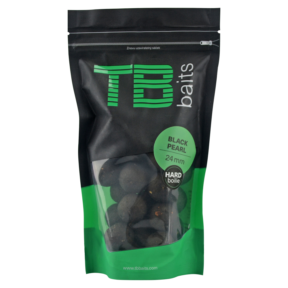 Tb baits hard boilie black pearl - 250 g 24 mm