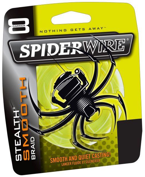 Spiderwire splietaná šnúra stealth smooth 8 žltá-priemer 0,35 mm / nosnosť 40,8 kg / návin 1 m