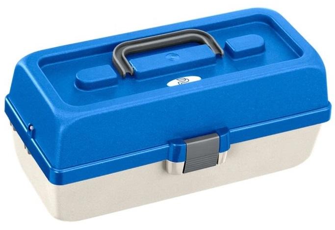 Plastica panaro rybársky kufrík 118/2-poschodový bielo-modrý