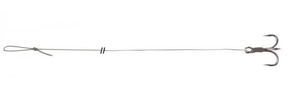 Uni cat náväzec treble hook rig 100 cm-veľkosť háčika 2/0 nosnosť 67 kg