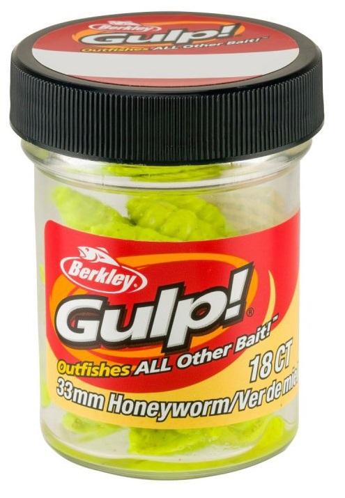 Berkley umelé nástrahy gulp honey worm-chartreuse 3,3 cm
