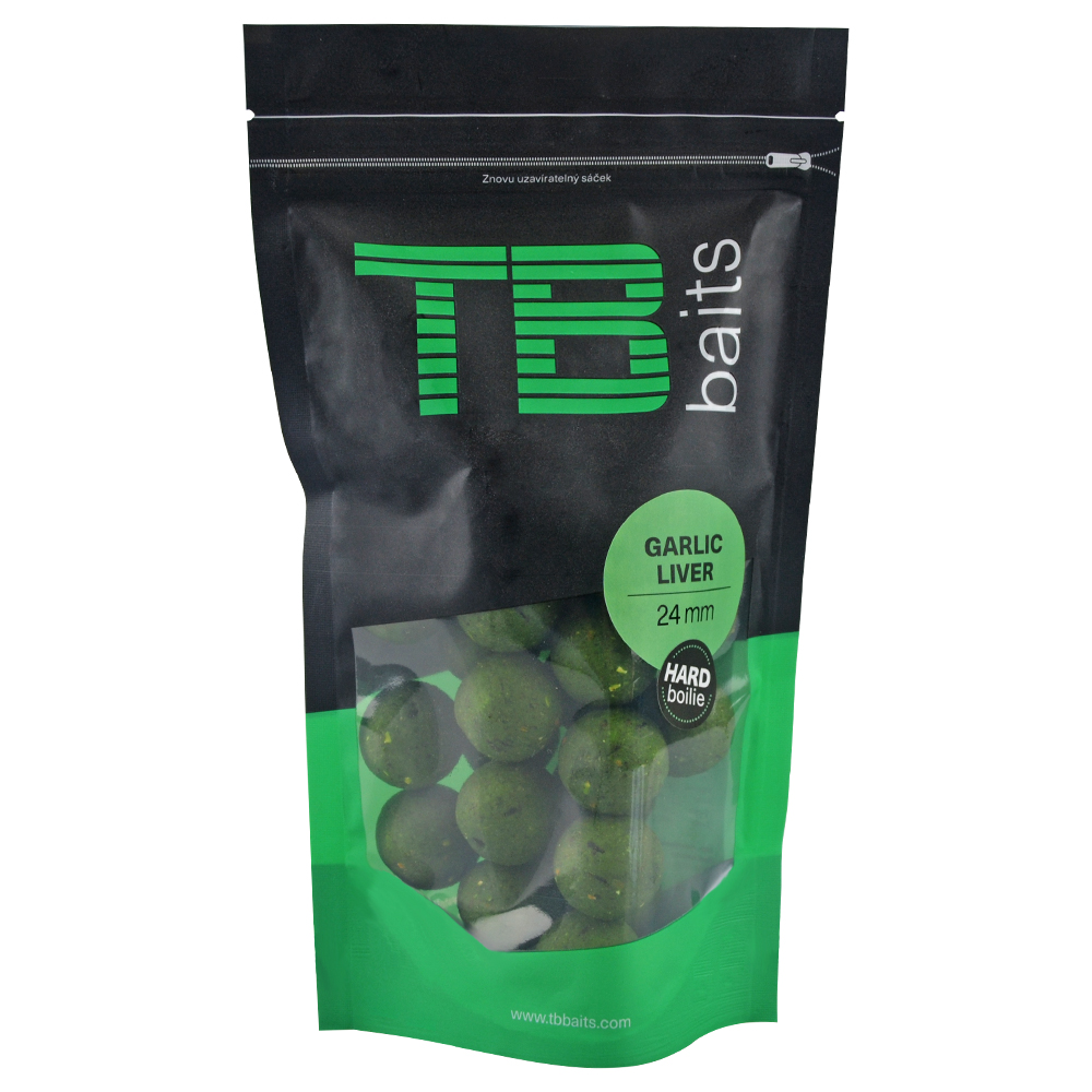 Tb baits hard boilie garlic liver - 250 g 24 mm