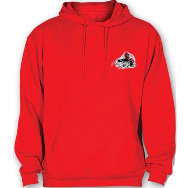 Hell-cat mikina s kapucňou červená-veľkosť xxl