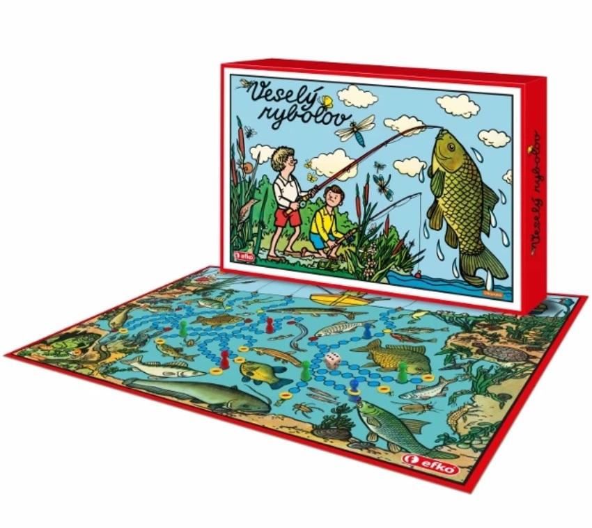 Efko dosková hra pre rybárov veselý rybolov