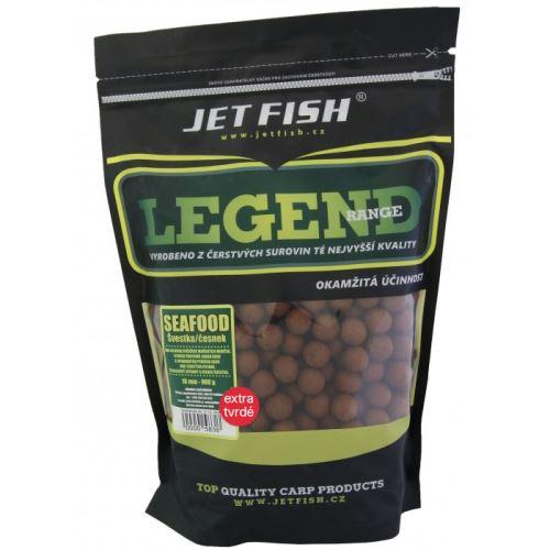 Jet Fish Extra Tvrdé Boilie Legend Range Seafood Slivka Cesnak 250 g