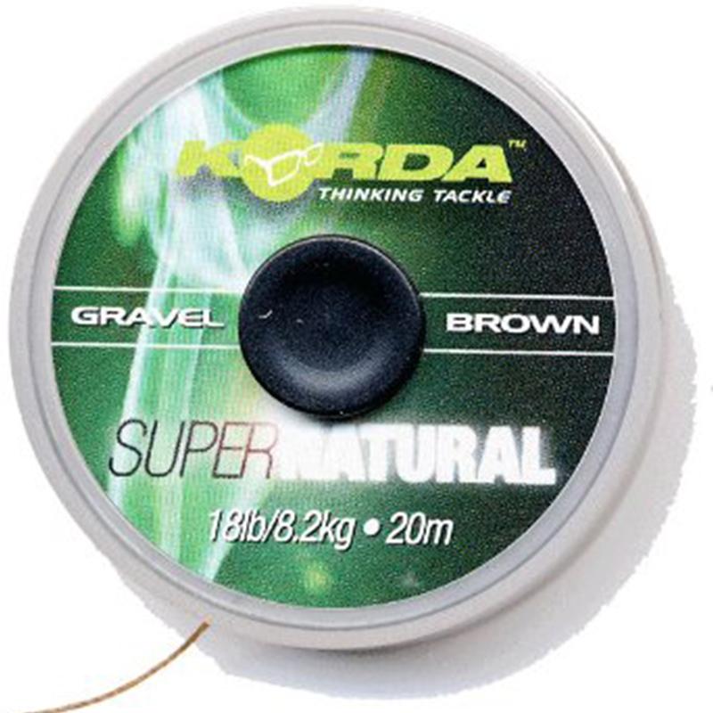 Korda náväzcová šnúra super natural gravel brown-priemer 18 lb