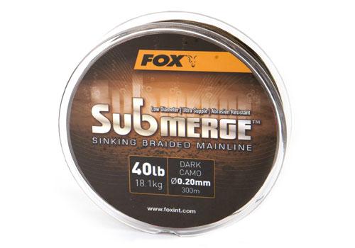 Fox pletená šnúra submerge dark camo 0,30 mm 50 lb-návin 600 m
