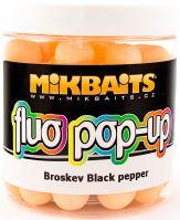 Mikbaits Plávajúce Boiles Fluoro 250 ml 14 mm-Broskyňa Black pepper