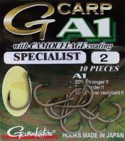 Gamakatsu Háčiky G-Carp Specialist CAMOU A1 10ks - Veľkosť 8
