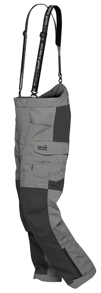 Geoff anderson kalhoty barbarus šedo čierna - veľkosť xxl