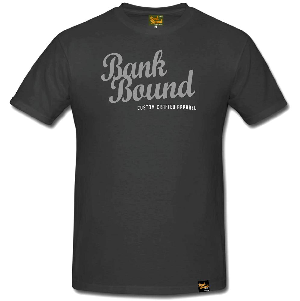 Prologic tričko bank bound custom dark grey tee-veľkosť s