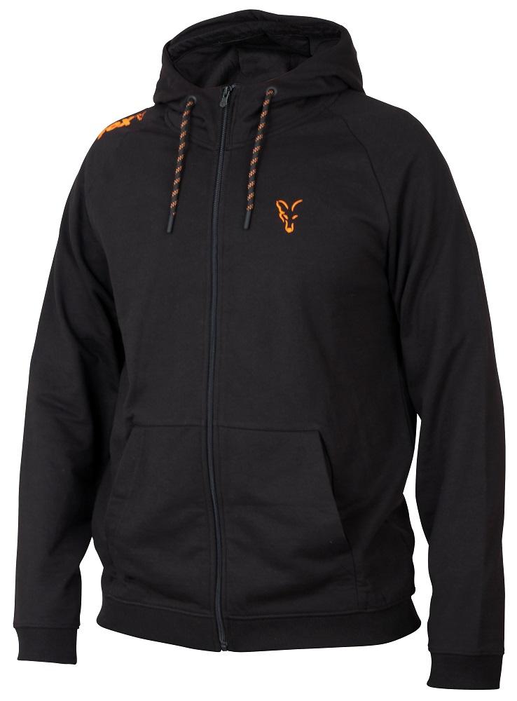Fox mikina collection orange black lightweight hoodie-veľkosť m