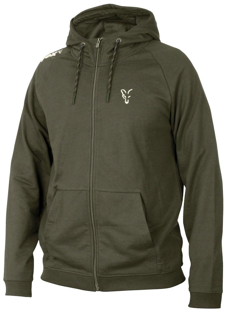 Fox mikina collection green silver lightweight hoodie-veľkosť xxxl