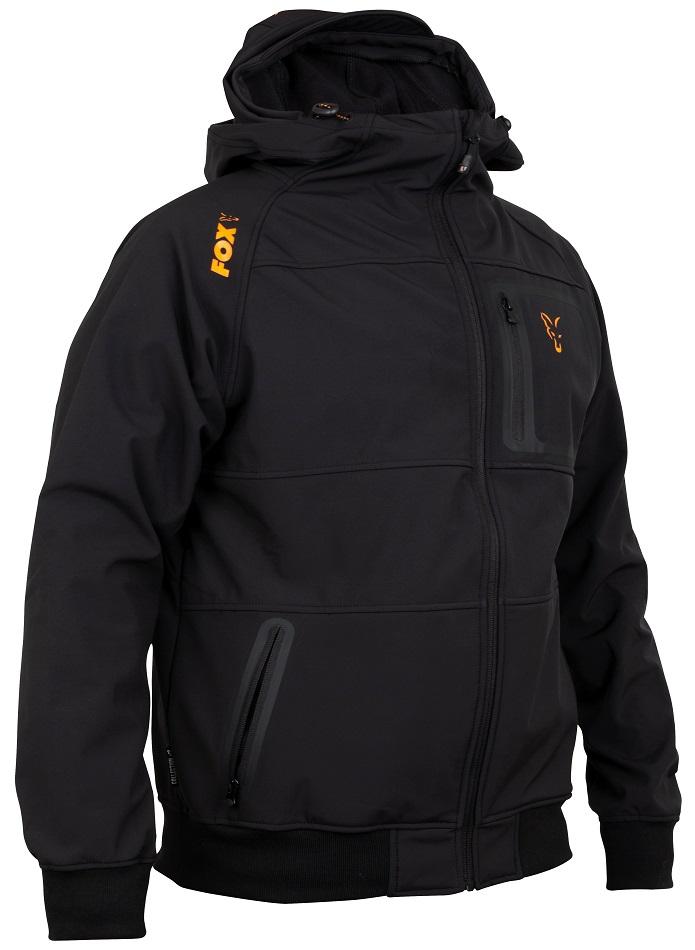 Fox mikina collection black/orange shell hoody-veľkosť xxxl