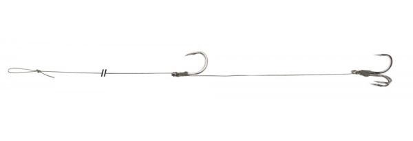 Uni cat náväzec single treble hook rig 100 cm-veľkosť háčika 8/0 + 3/0 nosnosť 105 kg