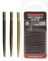Starbaits Prevleky Anti Tangle Sleeve Long 4 cm 25 ks - Hnedá