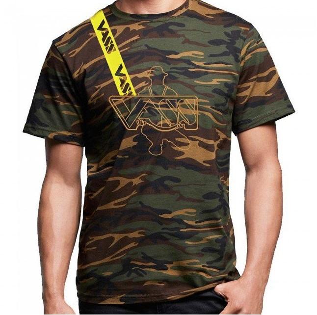 Vass tričko s krátkým rukávom camou-veľkosť m