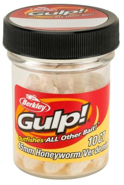 Berkley umelé nástrahy gulp honey worm-milky white 4,5 cm