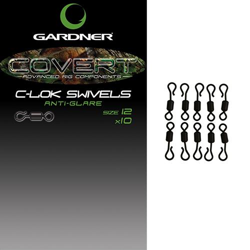 Gardner obratlíky covert c lok swivels 10 ks - veľkosť 12