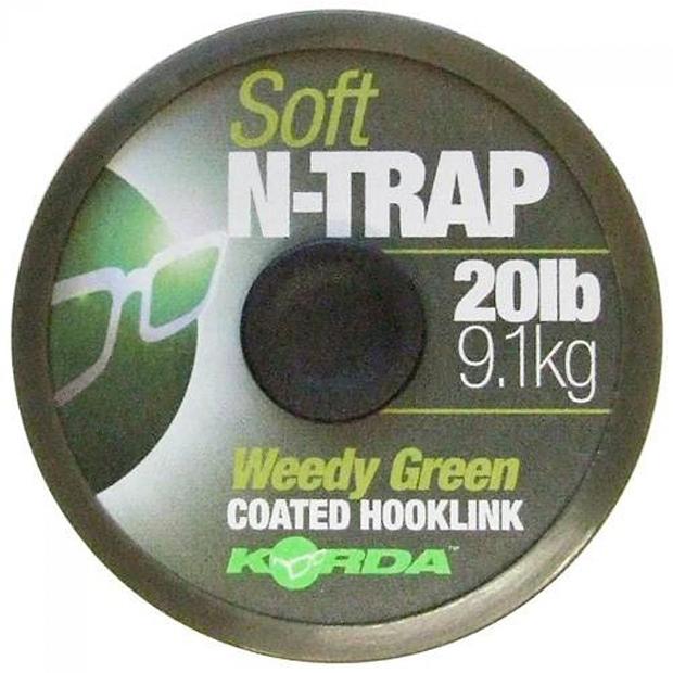 Korda náväzcová šnúrka n-trap soft green 20 m - nosnosť 30 lb / 13,6 kg