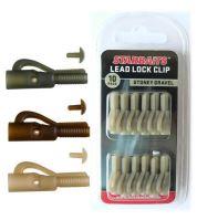 Starbaits Závesky Lead Lock Clip 10 ks - Hnedá