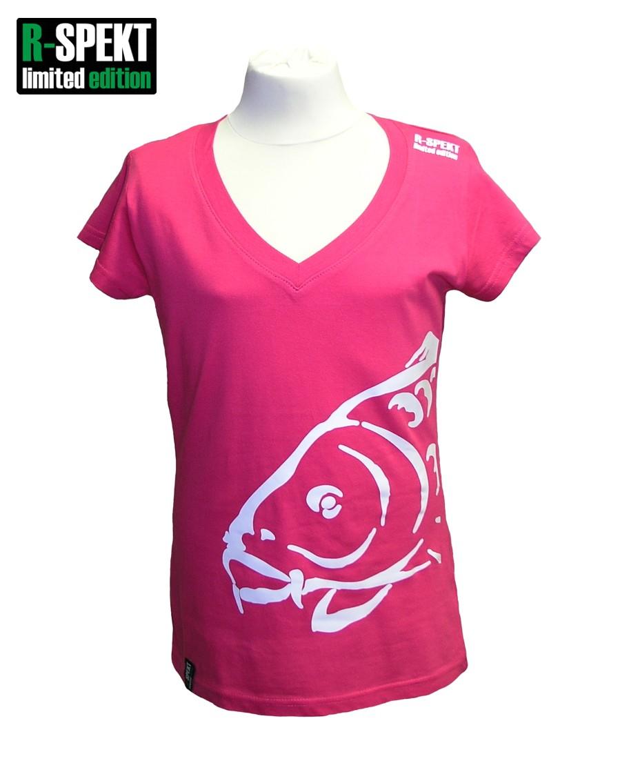 R-spekt tričko lady carper rúžove-veľkosť m