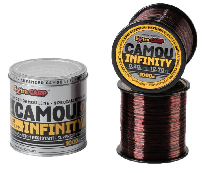 Extra carp vlasec infinity camou 1000 m-priemer 0,33 mm / nosnosť 13,9 kg