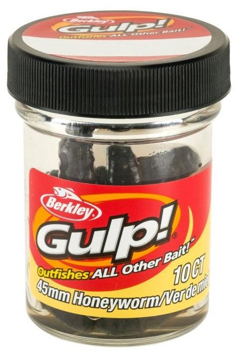Berkley umelé nástrahy gulp honey worm-black 4,5 cm