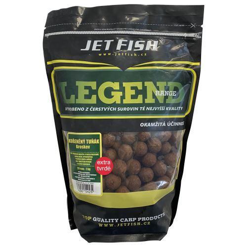 Jet Fish Extra Tvrdé Boilie Legend Range Korenený Tuňiak Broskyňa 250 g