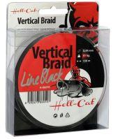 Hell-Cat Splietaná Šnúra Braid Line Vertical Black 150 m - Priemer 0,44 mm / Nosnosť 41 kg