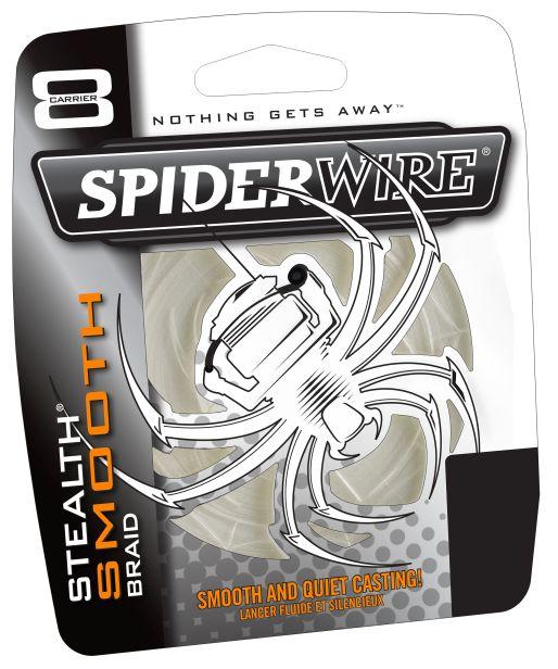 Spiderwire splietaná šnúra stealth smooth 8 priehľadná-priemer 0,35 mm / nosnosť 40,8 kg / návin 1 m
