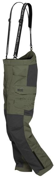 Geoff anderson nohavice barbarus zeleno čierna - veľkosť xl