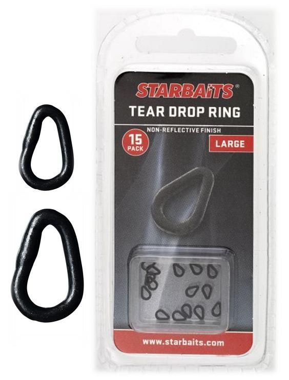 Starbaits krúžky slza tear drop ring 15 ks - veľkosť l