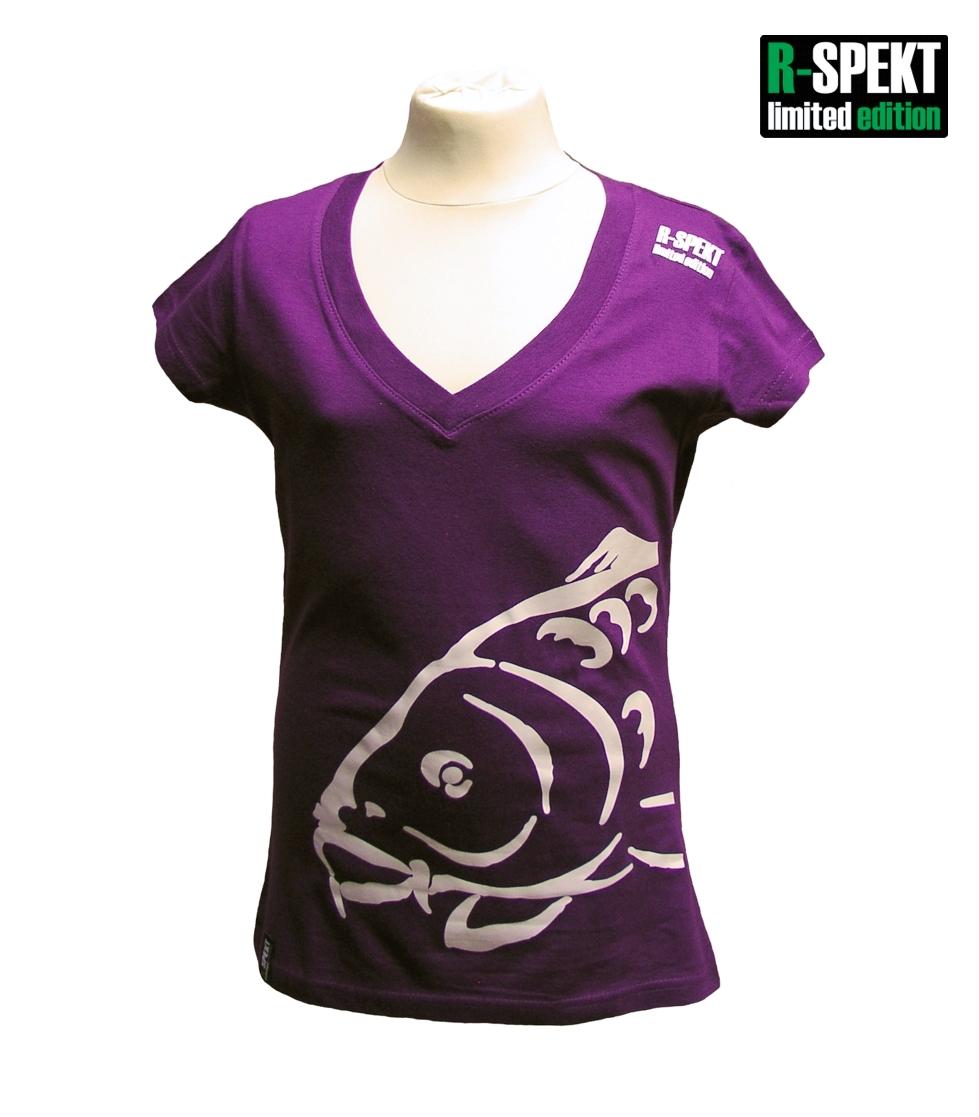 R-spekt tričko lady carper fialové-veľkosť s