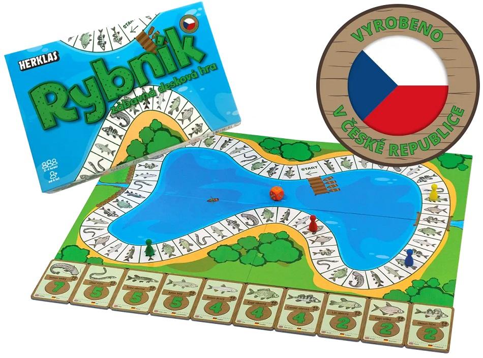 Herklas dosková hra pre rybárov rybník