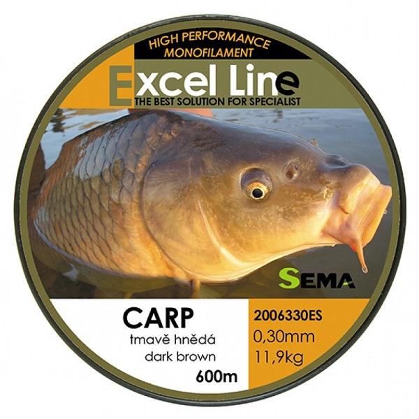 Sema vlasec carp hnedá 600 m-priemer 0,25 mm / nosnosť 8,4 kg