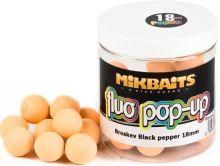 Mikbaits Plávajúce Boile Fluoro 250 ml 18 mm-Broskyňa Black pepper