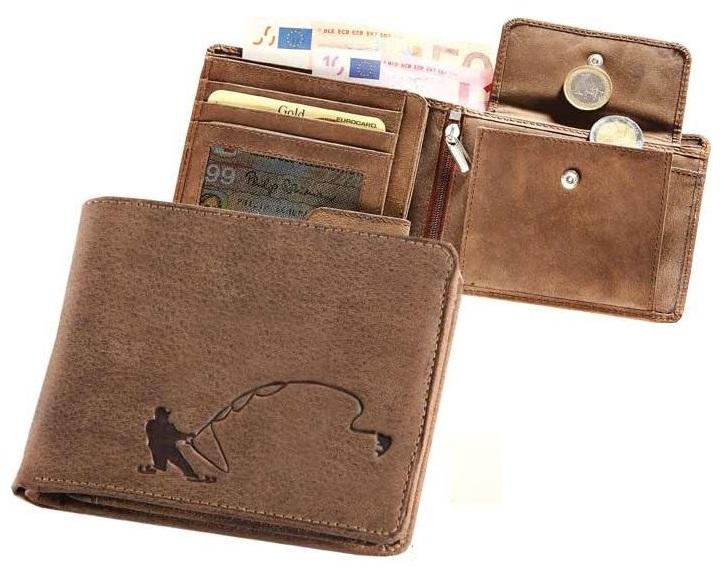 Kožená rybárská peňaženka 40 - rybár