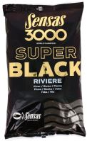 Sensas kŕmenie 3000 SUPER BLACK 1kg-Riviere